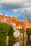 Beautiful houses in Bruges Royalty Free Stock Photography