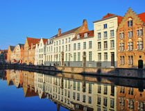 Beautiful houses of Brugge Stock Photography