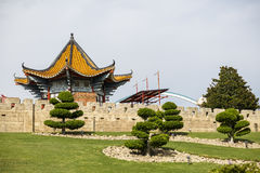 Beautiful houses with Chinese Royalty Free Stock Photography