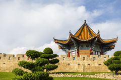 Beautiful houses with Chinese Stock Photo