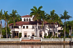 Beautiful Houses Downtown At The Waterfront Stock Photography