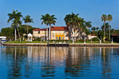 Beautiful Houses Downtown At The Waterfront Royalty Free Stock Photos