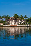 Beautiful houses downtown at the waterfront Royalty Free Stock Images