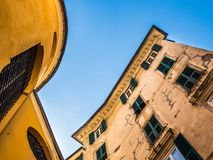 Beautiful houses of the fabulous city of Genoa royalty free stock image