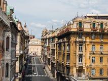 Beautiful houses of the fabulous city of Genoa royalty free stock photos