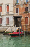 Beautiful houses on the Grand Canal in Venice Royalty Free Stock Photography