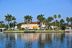 Beautiful Houses In South Miami Royalty Free Stock Images