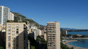 Beautiful houses in Monaco, Monte Carlo Royalty Free Stock Image