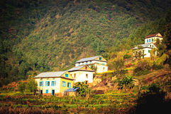 Beautiful Houses of Nepali village Stock Photography