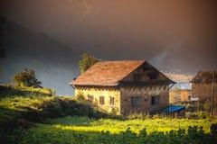 Beautiful Houses of Nepali village Royalty Free Stock Photo