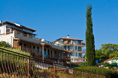 Beautiful houses in Nesebar Stock Photo