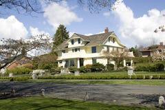 Beautiful houses in a nice neighborhood royalty free stock photo