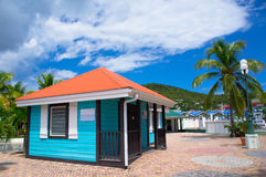 Beautiful houses at Philipsburg, St Maarten Stock Photos