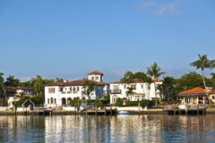 Beautiful houses in South Miami Royalty Free Stock Image