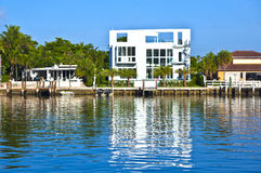 Beautiful houses in South Miami Royalty Free Stock Photography