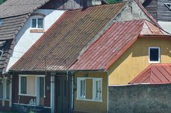 Old houses. Beautiful houses from a village in east europe royalty free stock photos