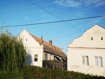 Old houses. Beautiful houses from a village in east europe stock image