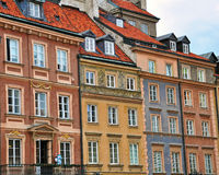 Beautiful houses of Warsaw Royalty Free Stock Photography