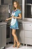 Beautiful housewife royalty free stock photos