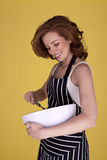 Beautiful housewife. Royalty Free Stock Image