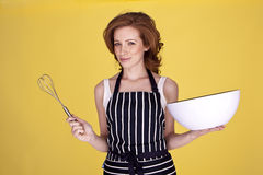 Beautiful housewife. Stock Image