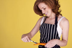 Beautiful housewife. Royalty Free Stock Photos