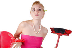 Beautiful housewife Royalty Free Stock Photos