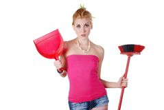 Beautiful housewife Stock Photography