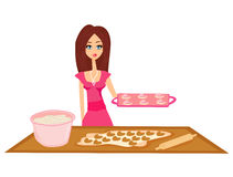 Beautiful Housewife cooking Royalty Free Stock Images