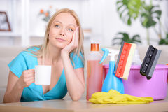 Beautiful Housewife Royalty Free Stock Image