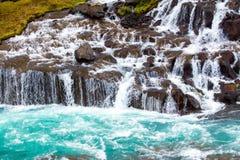 The beautiful Hraunfossar falls Royalty Free Stock Images