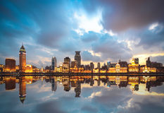 Beautiful huangpu river at dusk Stock Photo