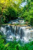 Huay Mae Kamin Waterfall at Kanchanaburi in Thailand Royalty Free Stock Photography