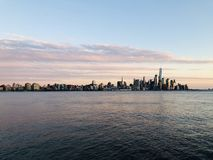 Beautiful hudson river view with NYC royalty free stock images