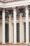 Beautiful huge architectural columns at the entrance to the building Royalty Free Stock Photo