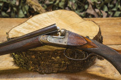 Beautiful hunting rifle Stock Photo