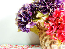 Beautiful hydrangea artificia flower bouquet Stock Image