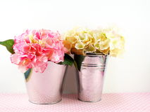 Beautiful hydrangea of artificial flowers bouquet Stock Images