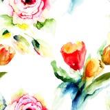 Beautiful Hydrangea blue flowers Royalty Free Stock Photos