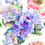 Beautiful Hydrangea blue flowers Royalty Free Stock Photo