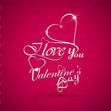 Beautiful I love You valentine's day text design background Stock Images