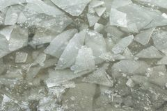 Beautiful ice with abstract cracks. Royalty Free Stock Images