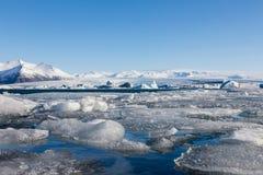 Beautiful Ice breaking natural lagoon Stock Photo