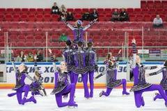 Beautiful ice choreography Stock Photo