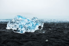 Beautiful ice on the coast of the Atlantic ocean Stock Images