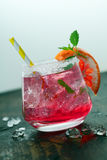 Beautiful ice cold pink cocktail Royalty Free Stock Images