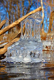 Beautiful Ice Formations Illinois. Natural ice sculptures along the Kishwaukee River in northern Illinois Royalty Free Stock Photos