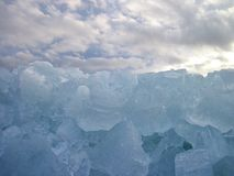 Curonian spit in winter ice, Lithuania Stock Photography