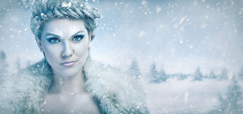Beautiful ice queen stock images