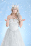 Beautiful ice queen making snow Stock Photo
